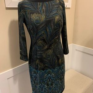 London Style Collection Peacock Dress